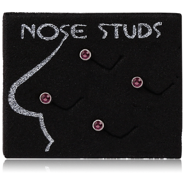 DISPLAY - BLACK EVA FOAM 4 HOLES FOR NOSE CURVE 2 5X3XCM