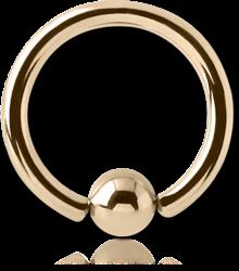 14 KARAT GOLD YELLOW BALL CLOSURE RING