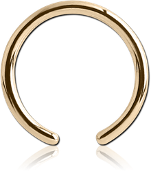 18 KARAT GOLD YELLOW BALL CLOSURE RING PIN