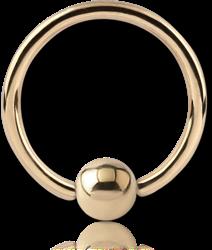 18 KARAT GOLD YELLOW FIXED BEAD RING