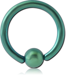 ANODISED SURGICAL STEEL GRADE 316L BALL CLOSURE RING