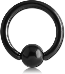 BLACK PVD COATED SURGICAL STEEL GRADE 316L BALL CLOSURE RING