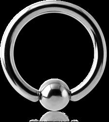 TITANIUM ALLOY BALL CLOSURE RING