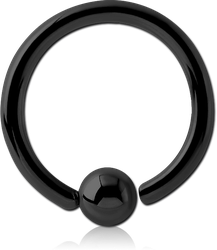 STERILE BLACK PVD COATED SURGICAL STEEL GRADE 316L FIXED BEAD RING