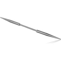 SURGICAL STEEL GRADE 316L BARBELL WITH LONG SPIKES