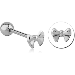SURGICAL STEEL GRADE 316L BARBELL - BOW