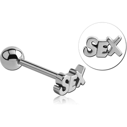 SURGICAL STEEL GRADE 316L SEX BARBELL