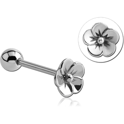 SURGICAL STEEL GRADE 316L FLOWER BARBELL