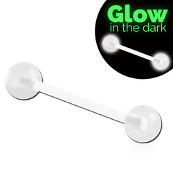 BIOFLEX® BARBELL WITH WITH UV BIOFLEX® GLOW IN THE DARK BALL