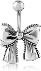 SURGICAL STEEL GRADE 316L NAVEL BANANA - BOW
