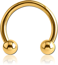 GOLD PVD COATED SURGICAL STEEL GRADE 316L CIRCULAR BARBELL