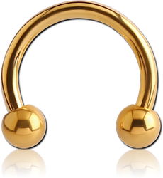 GOLD PVD COATED SURGICAL STEEL GRADE 316L MICRO CIRCULAR BARBELL