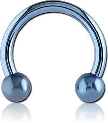 ANODISED SURGICAL STEEL GRADE 316L MICRO CIRCULAR BARBELL