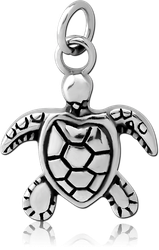 SURGICAL STEEL GRADE 316L CHARM - TURTLE