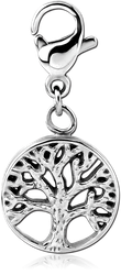 SURGICAL STEEL GRADE 316L CHARM - TREE OF LIFE