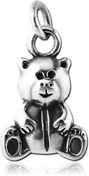 STERLING 925 SILVER BEAR CHARM