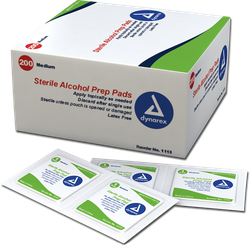 DYNAREX ALCHOHOL PAD BOX OF 200