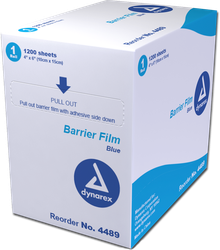 DYNAREX BLUE BARRIER FILM ROLL 4X6 INCH - 1200 SHEETS