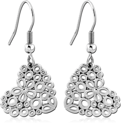 SURGICAL STEEL GRADE 316L EARRINGS - HEARTS
