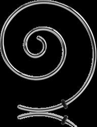 SURGICAL STEEL GRADE 316L MICRO WIRE EAR SPIRAL
