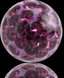 CLEAR EPOXY COATED CRYSTALINE JEWELED BALL