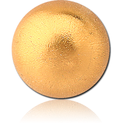GOLD PVD COATED SURGICAL STEEL GRADE 316L SAND BLAST BALL