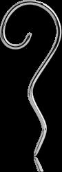 SURGICAL STEEL GRADE 316L FISH HOOK-SPIRAL DROP
