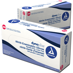 NITRILE DYNAREX MEDICAL GLOVES BLUE - 180CT - EXTRA LARGE