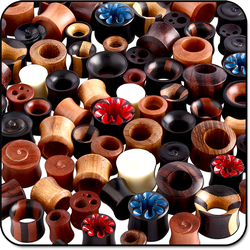VALUE PACK OF MIX ORGANIC MATERIAL PLUGS EXPANDERS AND TUNNELS