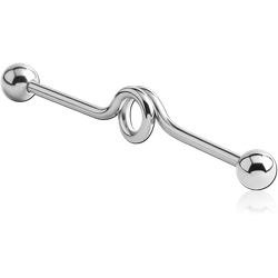 SURGICAL STEEL GRADE 316L INDUSTRIAL LOOP BARBELL