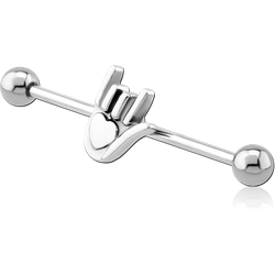 SURGICAL STEEL GRADE 316L ILY SIGN INDUSTRIAL BARBELL