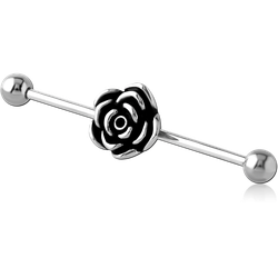 SURGICAL STEEL GRADE 316L INDUSTRIAL BARBELL - FLOWER