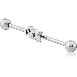 SURGICAL STEEL GRADE 316L SEX INDUSTRIAL BARBELL