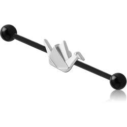 BIOFLEX® INDUSTRIAL BARBELL ADJUSTABLE SLIDING CHARM WITH BIOFLEX® BALLS
