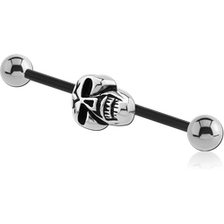 BIOFLEX® INDUSTRIAL BARBELL ADJUSTABLE SLIDING CHARM WITH TITANIUM ALLOY BALLS