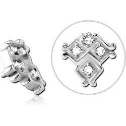 SURGICAL STEEL GRADE 316L JEWELED MICRO ATTACHMENT FOR 1.2MM INTERNALLY THREADED PINS - TRIPLE