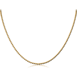 GOLD PVD COATED STAINLESS STEEL GRADE 304 BALL CHAIN ROLL CM