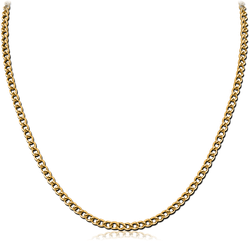 GOLD PVD COATED STAINLESS STEEL GRADE 304 CURB CHAIN 40CMS