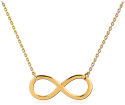 STERLING 925 SILVER GOLD PVD COATED NECKLACE WITH PENDANT - INFINITY