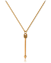 GOLD PVD COATED STERLING 925 SILVER NECKLACE WITH PENDANT - ARROW