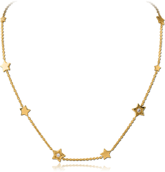 GOLD PVD COATED STERLING 925 SILVER NECKLACE WITH PENDANT - STAR