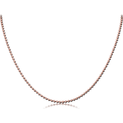ROSE GOLD PVD COATED SURGICAL STEEL GRADE 316L BALL CHAIN