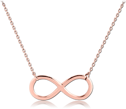 ROSE GOLD PVD COATED STERLING 925 SILVER NECKLACE WITH PENDANT - INFINITY