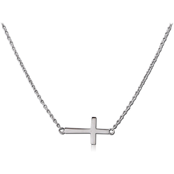 SURGICAL STEEL GRADE 316L NECKLACE WITH PENDANT - CROSS