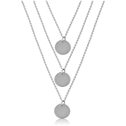 SURGICAL STEEL GRADE 316L NECKLACE WITH PENDANT - DISKS