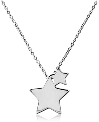 STERLING STERLING 925 SILVER 925 NECKLACE WITH PENDANT - TWO STAR