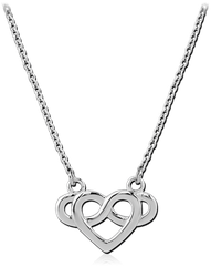 STERLING 925 SILVER NECKLACE WITH PENDANT  - INFINITY HEART