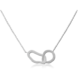 STERLING 925 SILVER JEWELED NECKLACE WITH PENDANT