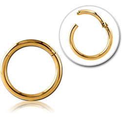 GOLD PVD COATED SURGICAL STEEL GRADE 316L HINGED SEGMENT RING