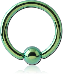 ANODISED TITANIUM ALLOY GRADE TI 6Al-4V ELI F136 BALL CLOSURE RING
